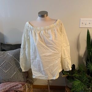 Who What Wear Tops - NWT who what wore cream off the shoulder top